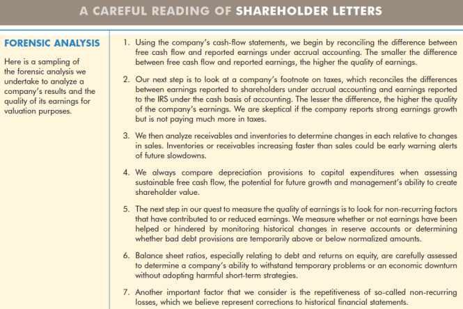 A Careful Reading of Shareholder Letters